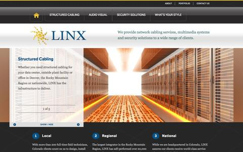 Screenshot of Login Page teamlinx.com - LINX | Structured Cabling, Multimedia and Security Solutions - captured Oct. 1, 2014