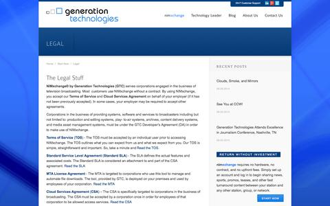 Screenshot of Terms Page generationtechnologies.com - Legal - Generation Technologies - captured Oct. 2, 2014