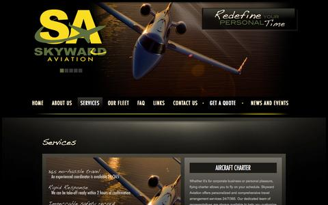 Screenshot of Services Page skywardaviation.com - Skyward Aviation - captured Oct. 7, 2014