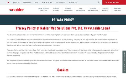 Privacy Policy of Nabler Website