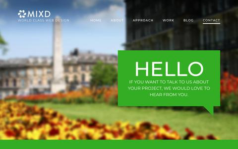 Screenshot of Contact Page mixd.co.uk - Contact Mixd | World Class Web Design - captured Nov. 25, 2017