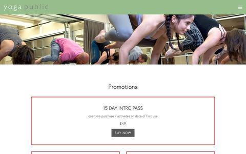 Screenshot of Pricing Page yogapublic.com - Pricing — Yoga Public - captured Nov. 4, 2017