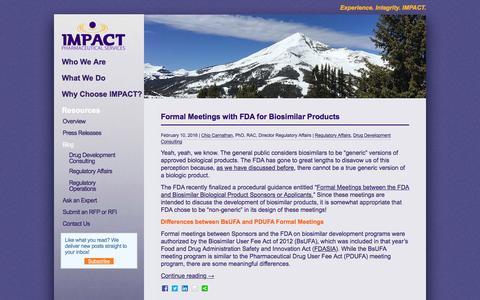 Screenshot of Blog impactpharma.com - Blog Archives - IMPACT Pharmaceutical Services, Inc.IMPACT Pharmaceutical Services, Inc. - captured Feb. 10, 2016
