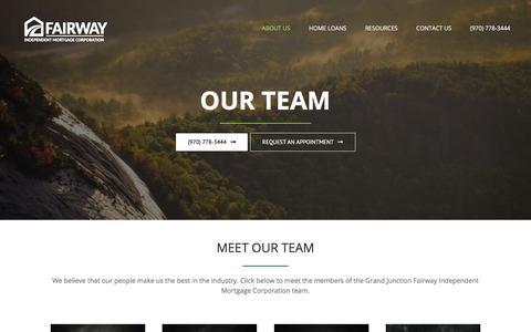 Screenshot of Team Page getyourmortgagenow.com - Team - Fairway - captured July 14, 2018