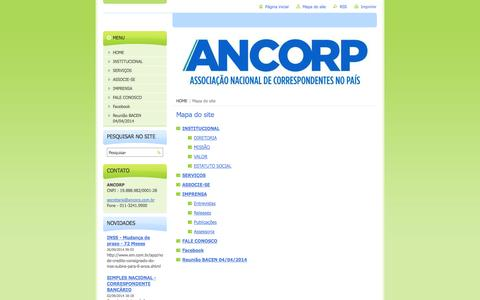 Screenshot of Site Map Page ancorp.com.br - Mapa do site :: ANCORP - captured Oct. 1, 2014