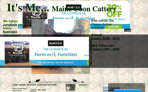 Screenshot of Home Page its-me-maine-coon-cattery.de - It's Me... Maine Coon Cattery - captured June 11, 2016