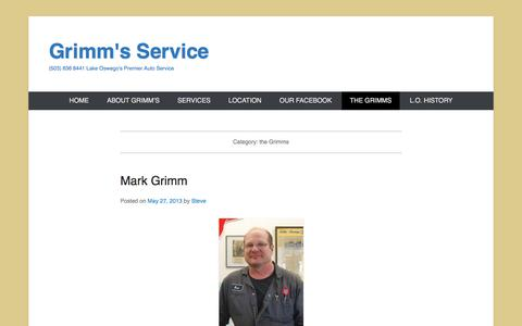 Screenshot of Team Page grimmsservice.com - the Grimms Archives - Grimm's Service - captured July 25, 2018
