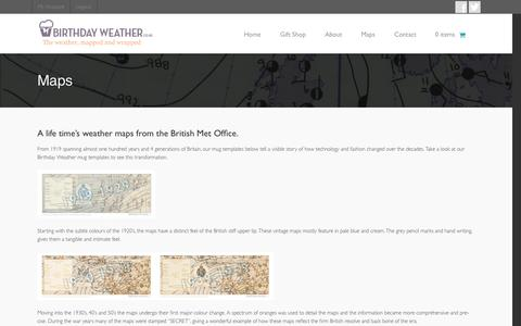 Screenshot of Maps & Directions Page birthdayweather.co.uk - A life time's weather maps from the British Met Office. - captured Oct. 5, 2014