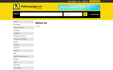 Screenshot of About Page yellowpages.in - Cms:: Yellowpages are a directory having contact information about businesses or services offered by various companies. - captured Nov. 4, 2014