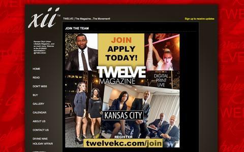 Screenshot of Signup Page twelvekc.com - Join the Team » Twelve KC - captured Feb. 22, 2016