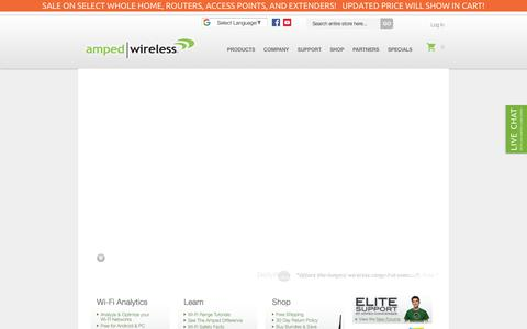 Screenshot of Home Page ampedwireless.com - Amped Wireless - The Leader in High Power, Long Range Wireless Solutions - captured July 29, 2018
