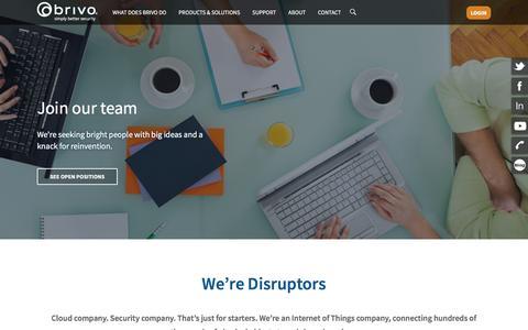 Screenshot of Jobs Page brivo.com - Careers - Brivo - captured May 6, 2016