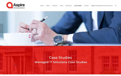 Screenshot of Case Studies Page aspirets.com - Aspire Technology Solutions | Managed IT Solutions Case Studies - captured Oct. 4, 2018