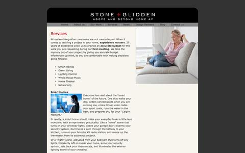 Screenshot of Services Page stoneglidden.com - Stone + Glidden/Services - captured Oct. 7, 2014