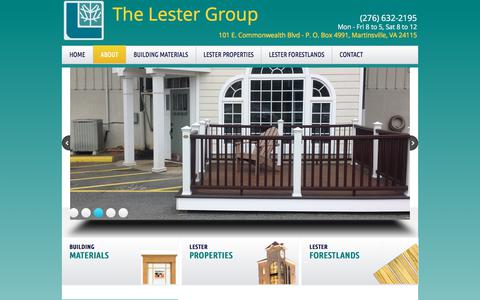 Screenshot of About Page lestergroup.com - About - captured Oct. 22, 2017