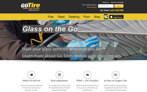 Screenshot of Home Page gotire.com - GoTire: Your Mobile Tire, Auto Glass & Detailing Specialist - captured Jan. 30, 2016