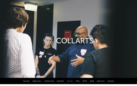 Screenshot of Team Page collarts.edu.au - Faculty – Collarts - captured Nov. 10, 2018