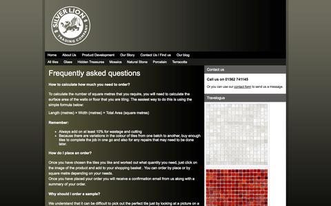 Screenshot of FAQ Page silverliontrading.com - Silver Lion Trading Company  » Frequently asked questions - captured Oct. 6, 2014