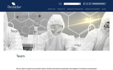 Screenshot of Team Page dermclar.com - Team - The Global Scientific Skincare - captured Nov. 24, 2016