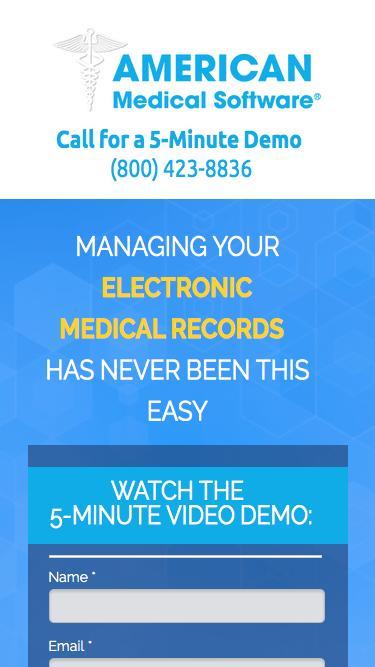Screenshot of Landing Page  americanmedical.com -