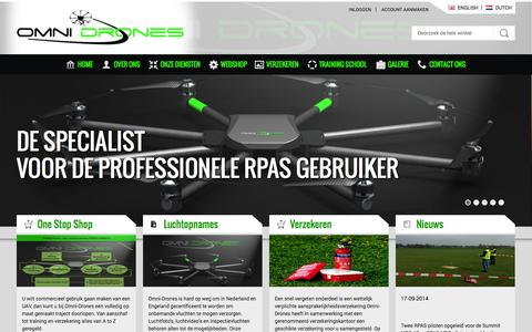 Screenshot of Home Page omni-drones.nl - Home page - captured Oct. 7, 2014
