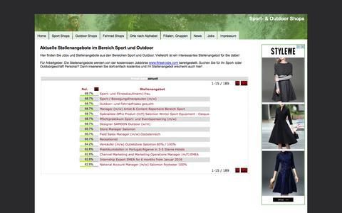 Screenshot of Jobs Page sport-outdoor-shops.de - Sport und Outdoor Jobs  - aktuelle Stellenangebote! - captured Jan. 20, 2016