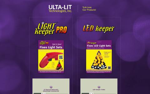 Screenshot of Home Page ultalit.com - Ulta-Lit Technologies, Inc.- Makers of the LightKeeper Pro - captured Oct. 7, 2014