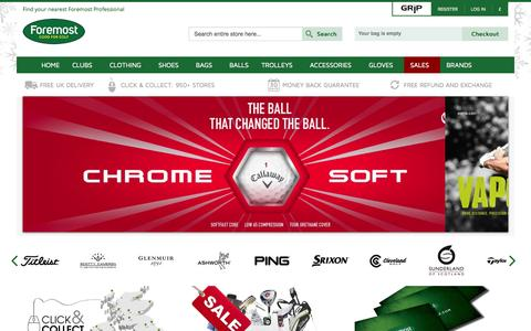 Screenshot of Home Page foremostgolf.com - Golf Clubs and Golf Equipment | Foremost Golf | The UKs Largest Golf Retail Group - captured Jan. 24, 2015