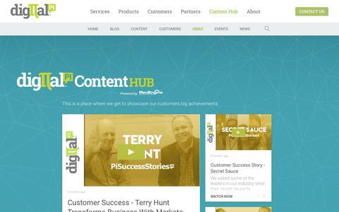 Screenshot of Testimonials Page digitalpi.com - Customer Success Stories - captured Aug. 19, 2019