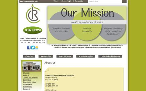 Screenshot of About Page rankinchamber.com - About Us - Rankin County Chamber of Commerce, MS - captured Nov. 29, 2016