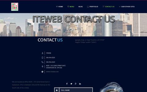 Screenshot of Contact Page iteweb.com - Contact US | ITE WEB – Web and Graphic Design – Digital Printing – ADS Marketing - captured Aug. 3, 2015