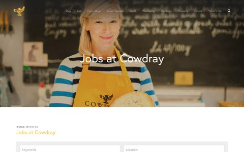 Screenshot of Jobs Page cowdray.co.uk - Cowdray Estate Jobs - Careers at Cowdray - Cowdray Estate - captured Sept. 6, 2017