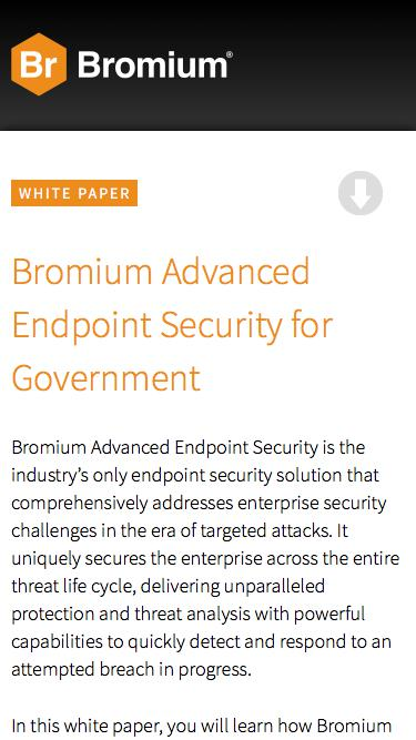 Bromium Advanced Endpoint Security for Government