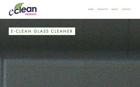 Screenshot of Products Page e-cleanproducts.com - Products Ń e-clean Products - captured Dec. 12, 2015