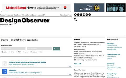 Jobs: Design Observer