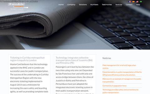 Screenshot of Press Page transdatasmart.com.br - Notícias - Transdata Smart - captured Nov. 13, 2017