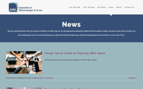 Screenshot of Press Page amh-projects.co.uk - Advice and Latest News about Commercial Office Fit Outs - captured Dec. 17, 2018