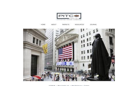 Screenshot of Home Page rangeresearchgroup.com - Range Research  GroupPitco Capital, Ltd. - captured Oct. 6, 2014