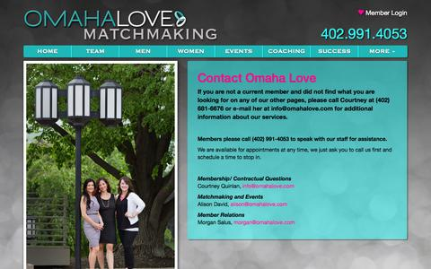 Screenshot of Contact Page omahalove.com - Contact Omaha Love - captured Oct. 28, 2014