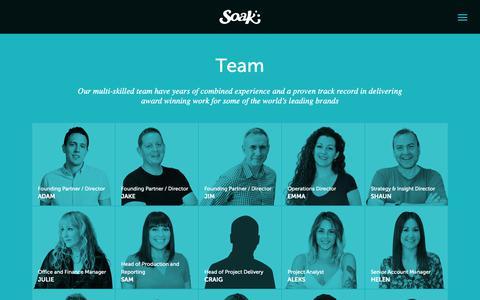 Screenshot of Team Page soak.co.uk - Team   Soak Digital - captured Oct. 19, 2018