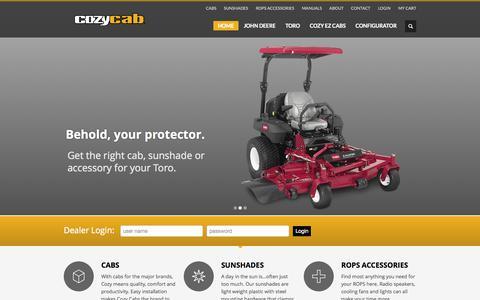 Screenshot of Home Page cozycab.com - Cozy Cab - captured Sept. 17, 2015