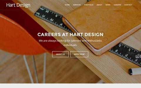 Screenshot of Jobs Page hartdesign.co.nz - Careers | Hart Design - Web Design, Digital Marketing, Print Design, Branding in Auckland, New Zealand - captured March 4, 2016