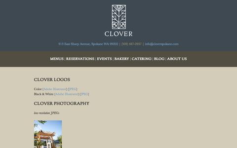 Screenshot of Press Page cloverspokane.com - Media - Clover - captured Jan. 23, 2016