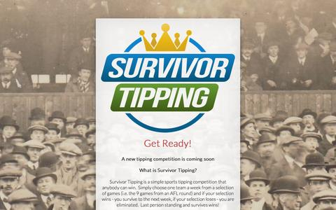 Screenshot of Home Page survivortipping.com - Survivor Tipping - captured Sept. 30, 2014