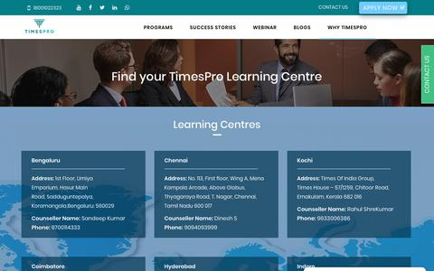 Screenshot of Contact Page timespro.com - Contact Us - TimesPro - captured Dec. 12, 2018