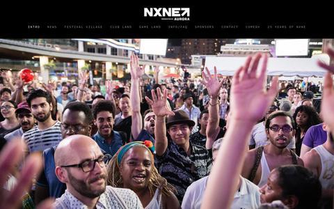 Screenshot of Home Page nxne.com - NXNE - captured Oct. 19, 2018