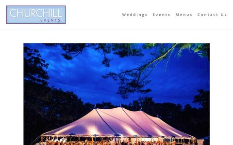 Screenshot of Home Page churchillcaterers.com - Home - Churchill Events - captured Nov. 5, 2016