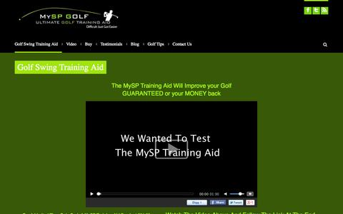 Screenshot of Home Page myspgolf.co.uk - My SP Golf | Ultimate Golf Training Aid - captured Oct. 6, 2014