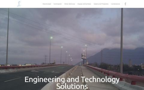 Screenshot of Home Page etssa.com.mx - ETSSA | Engineering and Technology Solutions - captured Oct. 3, 2014