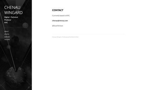Screenshot of Contact Page tumblr.com - Chenau Wingard : Professional Portfolio - captured Dec. 14, 2018